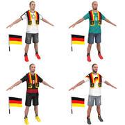 Soccer Crowd Germany 3d model