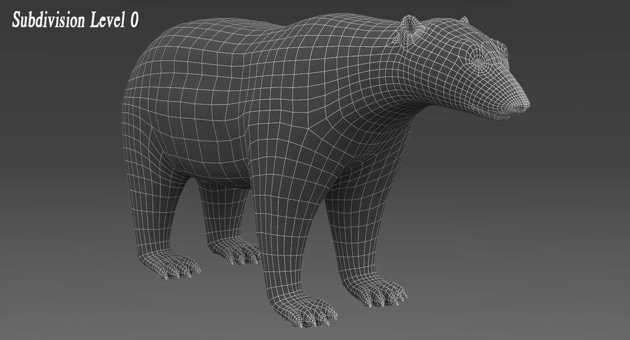 Polar Bear (Fur) royalty-free 3d model - Preview no. 12