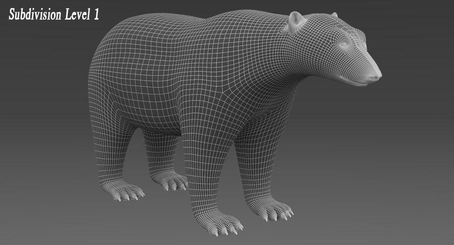 Polar Bear (Fur) royalty-free 3d model - Preview no. 13
