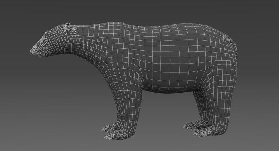 Polar Bear (Fur) royalty-free 3d model - Preview no. 15
