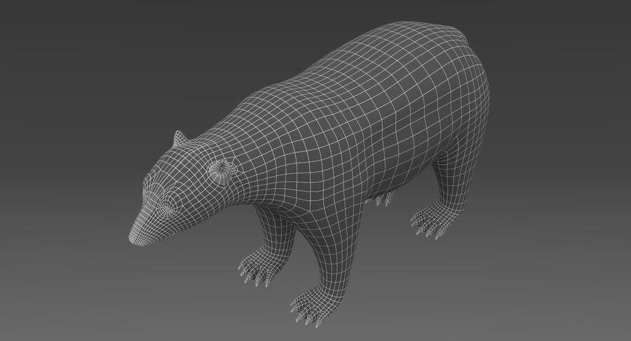 Polar Bear (Fur) royalty-free 3d model - Preview no. 16