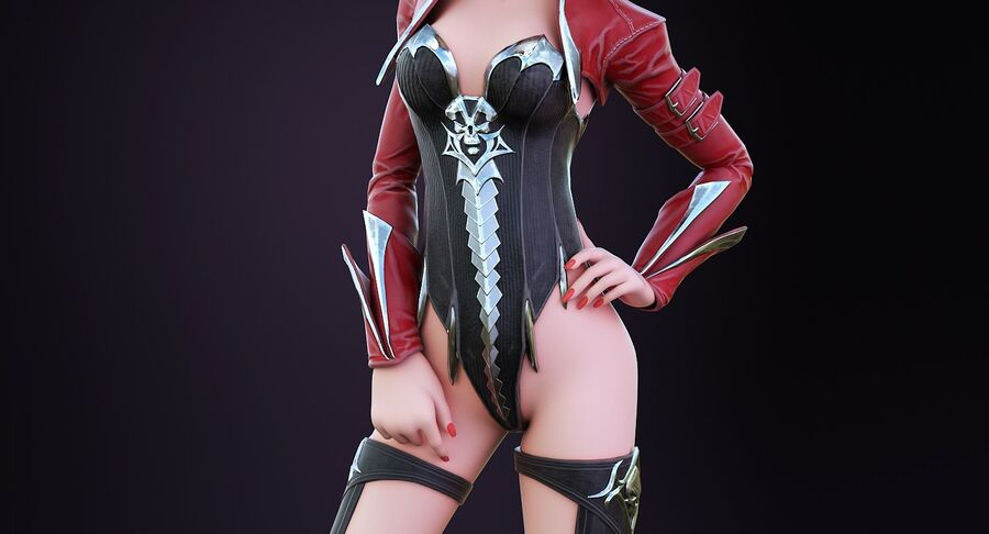 Alisa Hero royalty-free 3d model - Preview no. 5