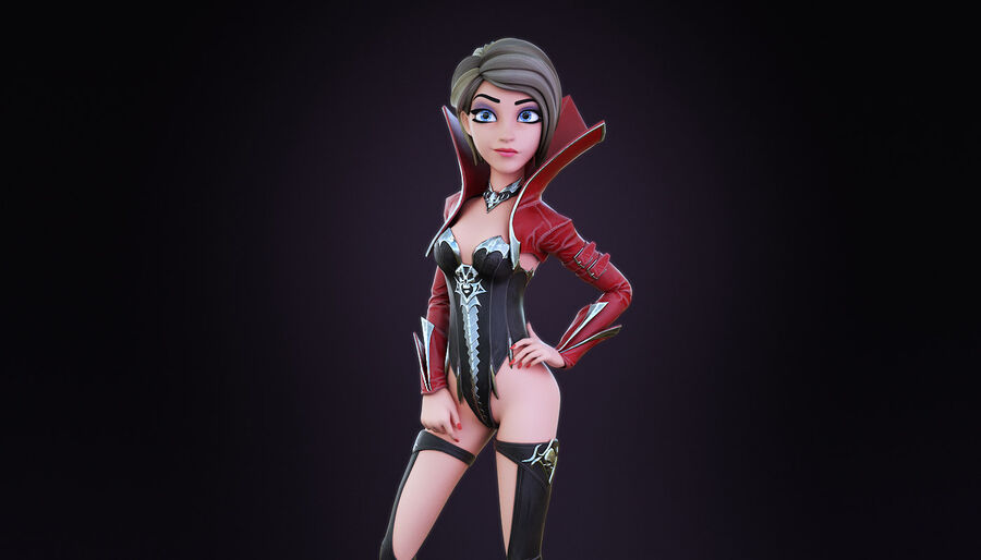 Alisa Hero royalty-free 3d model - Preview no. 2