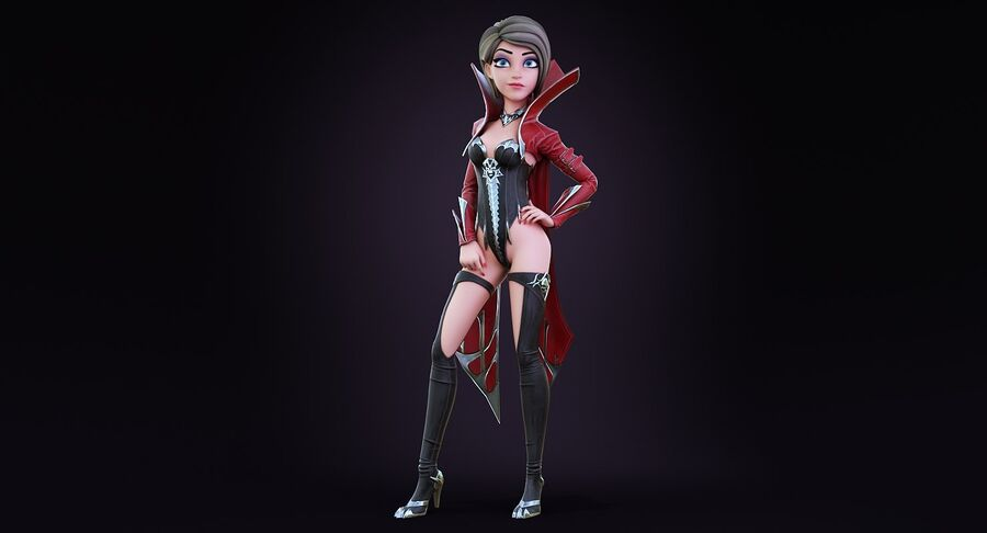 Alisa Hero royalty-free 3d model - Preview no. 4