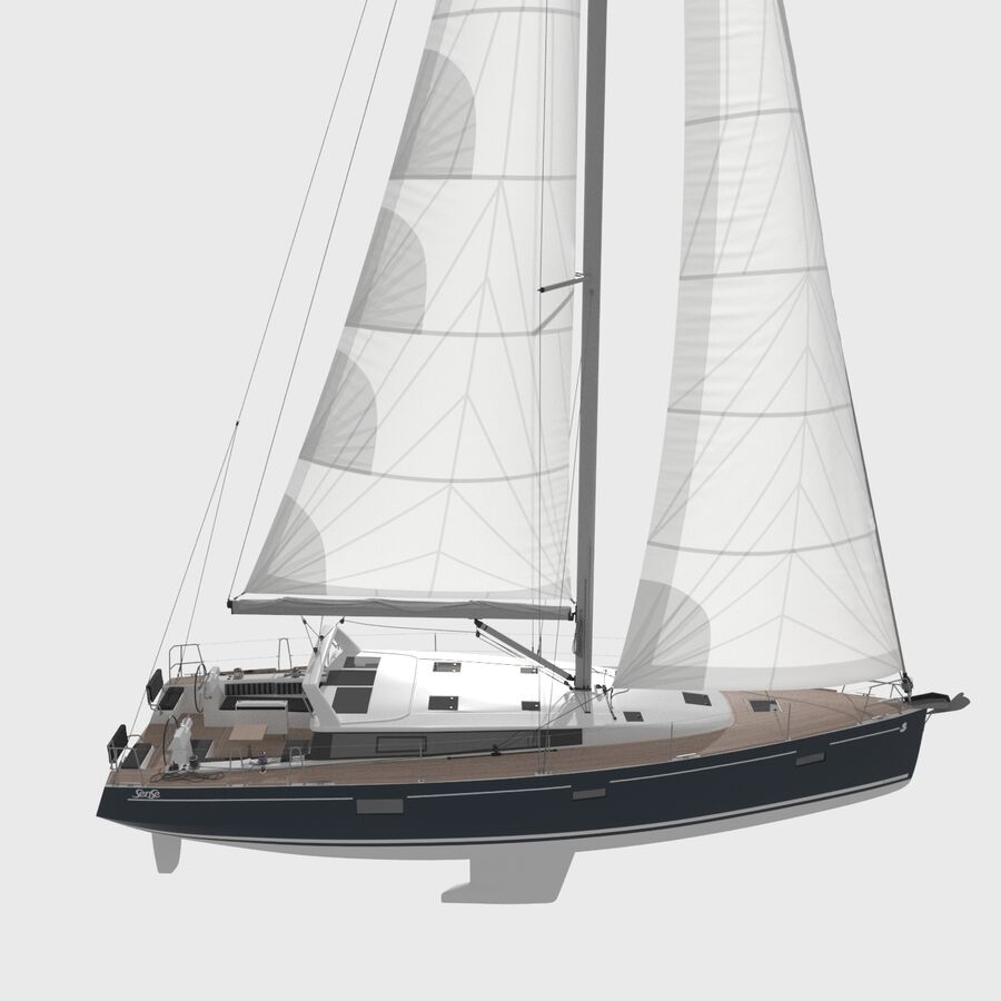 Yelkenli Beneteau Sense 50 yat royalty-free 3d model - Preview no. 11