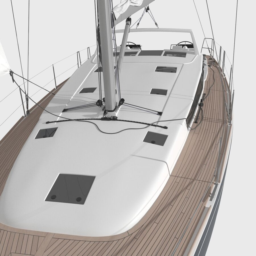 Yelkenli Beneteau Sense 50 yat royalty-free 3d model - Preview no. 7