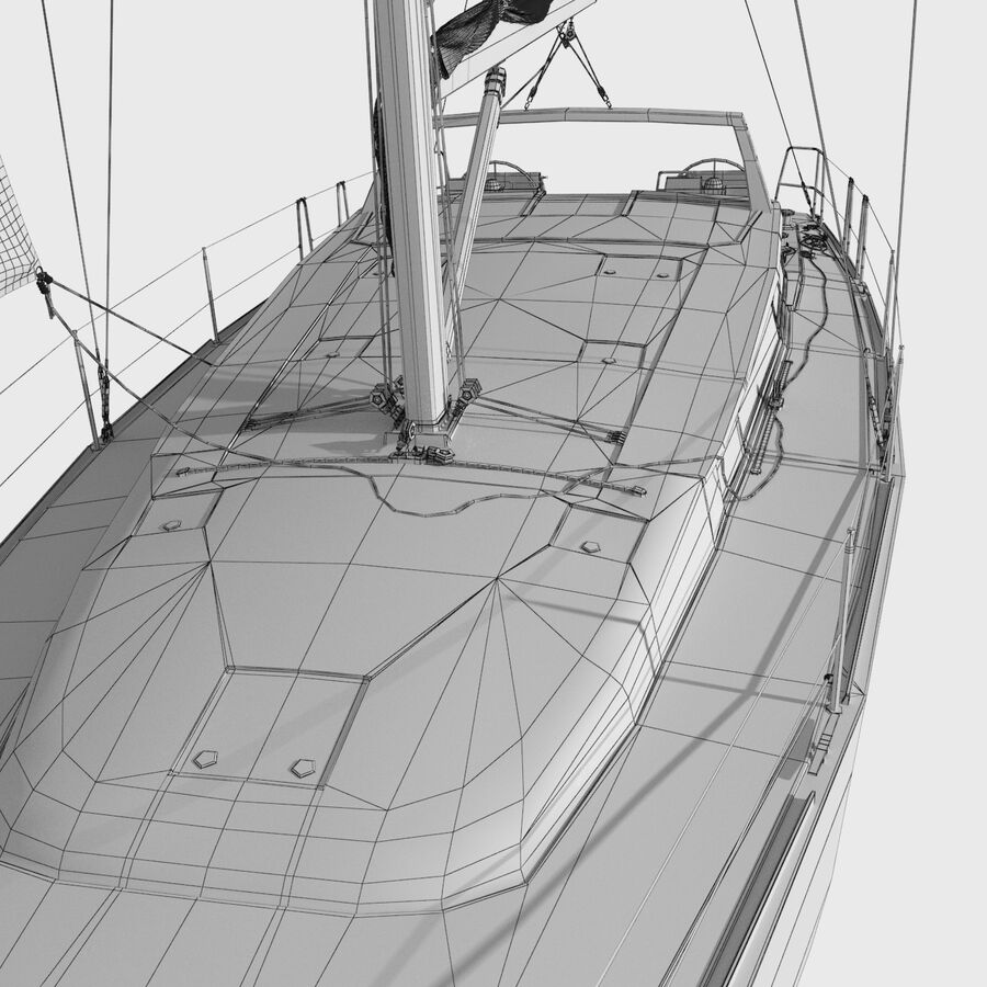 Yelkenli Beneteau Sense 50 yat royalty-free 3d model - Preview no. 14