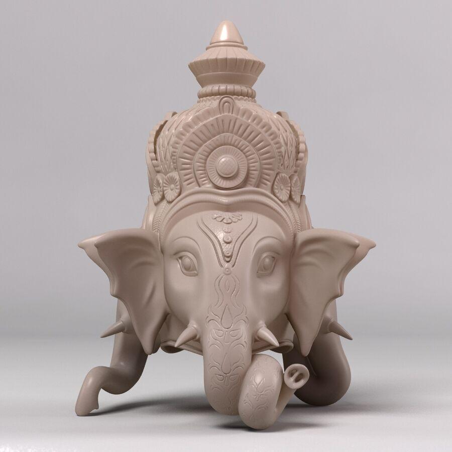 Ganesha Üç Yüz royalty-free 3d model - Preview no. 4