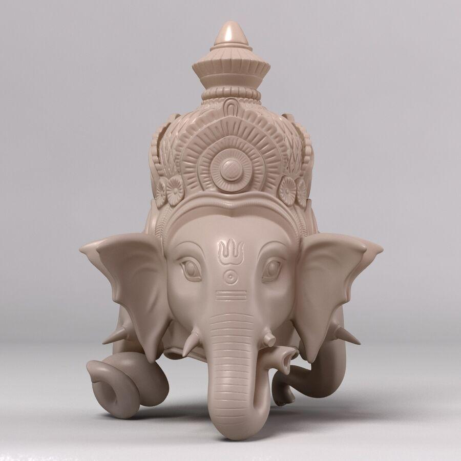 Ganesha Üç Yüz royalty-free 3d model - Preview no. 3