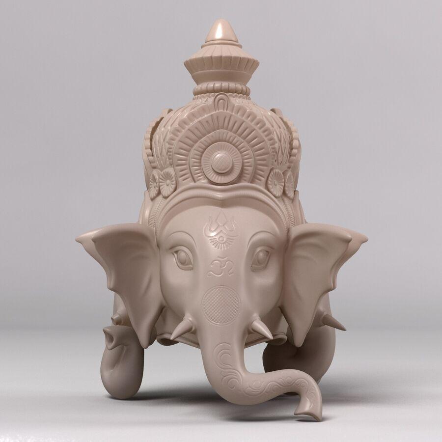 Ganesha Üç Yüz royalty-free 3d model - Preview no. 2