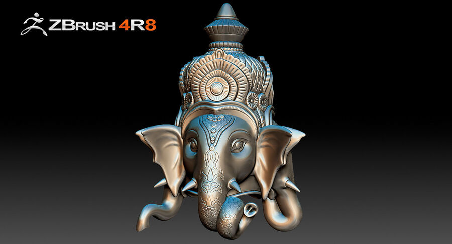 Ganesha Üç Yüz royalty-free 3d model - Preview no. 5