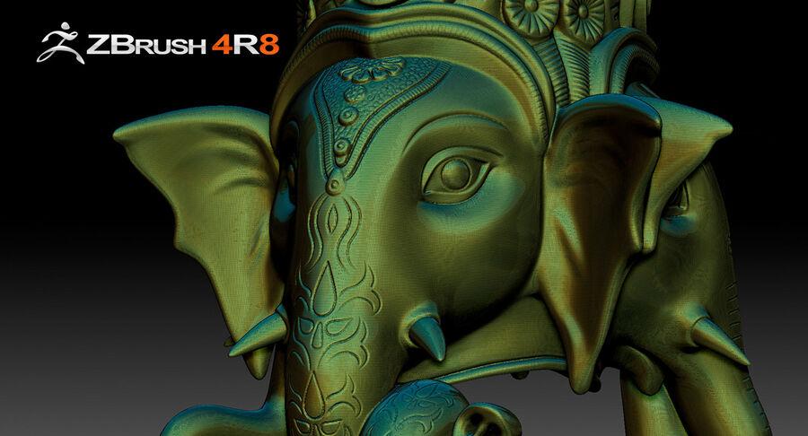 Ganesha Üç Yüz royalty-free 3d model - Preview no. 7