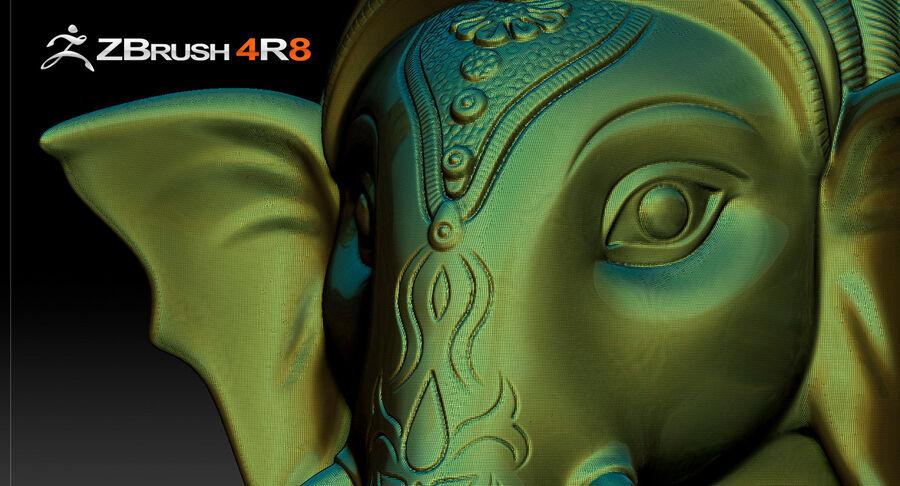 Ganesha Üç Yüz royalty-free 3d model - Preview no. 8
