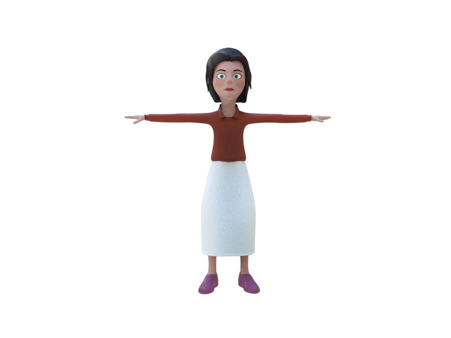女の子の女性の漫画の本当のキャラクター royalty-free 3d model - Preview no. 2