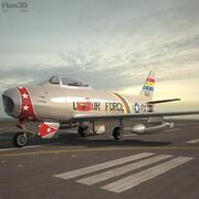 Kuzey Amerika F-86 Sabre 3d model