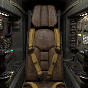 Cockpit de science-fiction 3d model