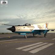 Mikoyan-Gurevich MiG-21 3d model
