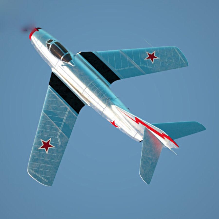 Mikoyan-Gurevich MiG-15 royalty-free 3d model - Preview no. 9
