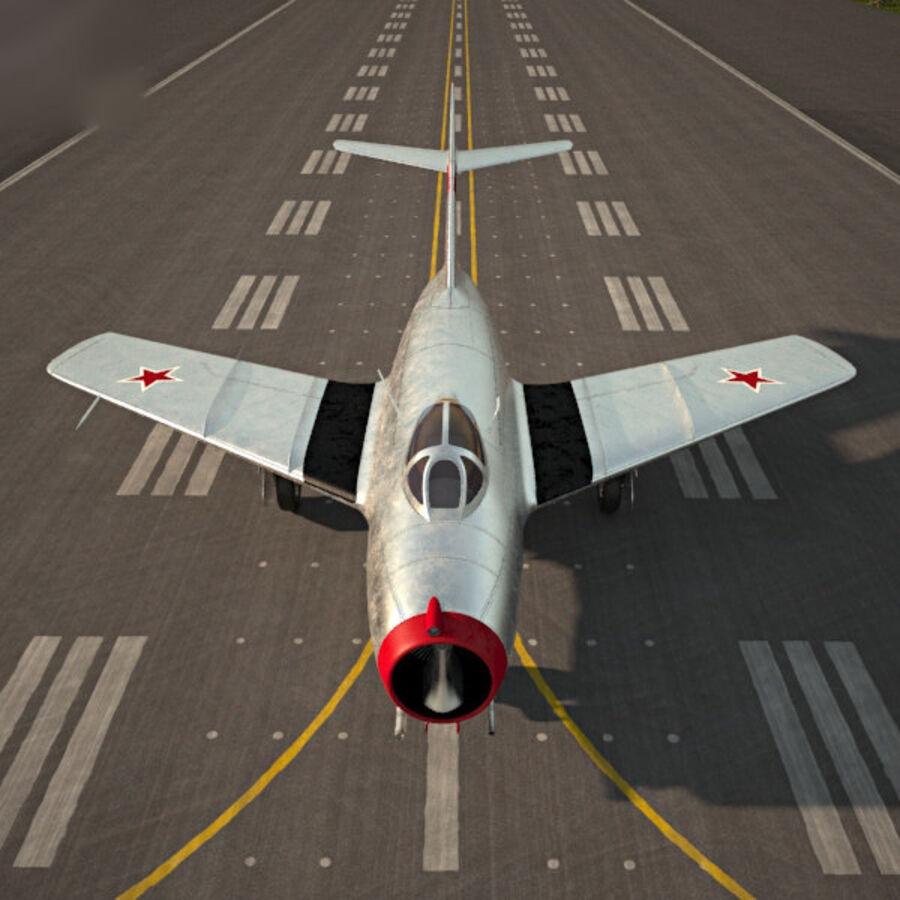 Mikoyan-Gurevich MiG-15 royalty-free 3d model - Preview no. 6