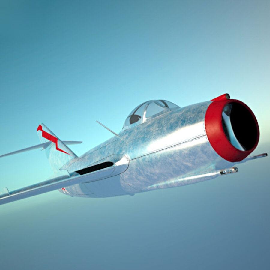 Mikoyan-Gurevich MiG-15 royalty-free 3d model - Preview no. 15
