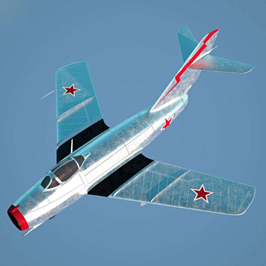 Mikoyan-Gurevich MiG-15 royalty-free 3d model - Preview no. 7