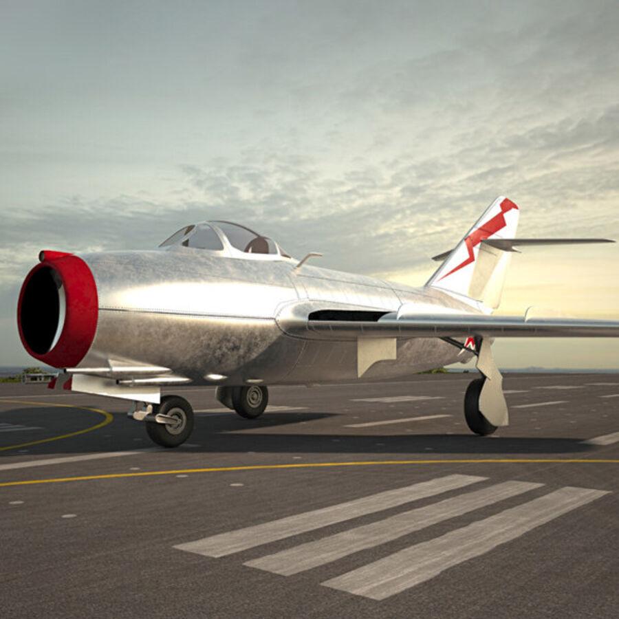 Mikoyan-Gurevich MiG-15 royalty-free 3d model - Preview no. 1