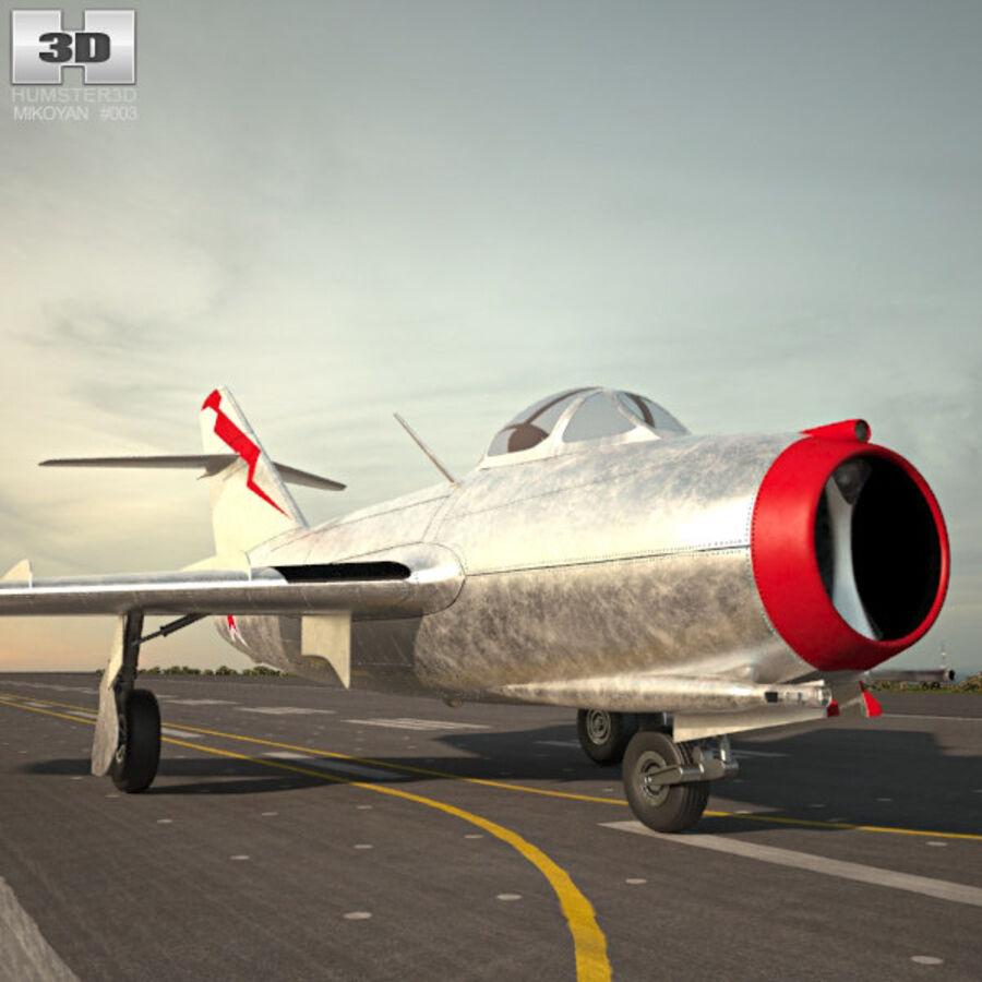 Mikoyan-Gurevich MiG-15 royalty-free 3d model - Preview no. 8