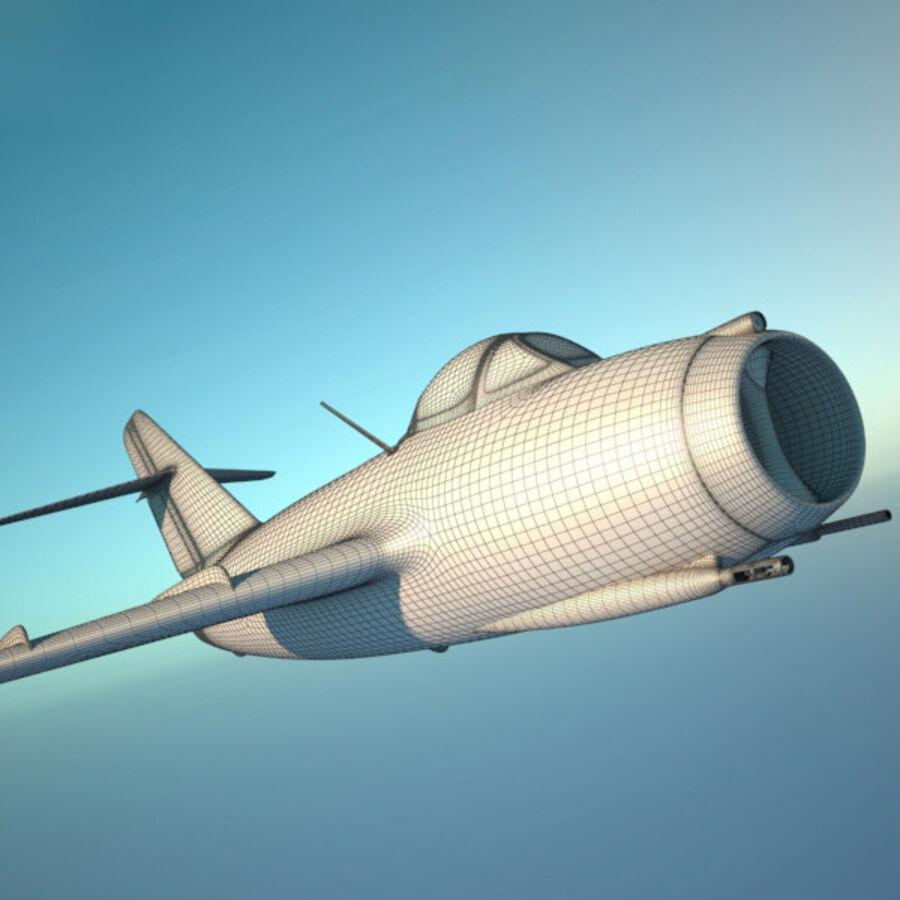 Mikoyan-Gurevich MiG-15 royalty-free 3d model - Preview no. 16