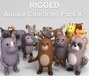 Rigged Animal Character Pack 2 3d model