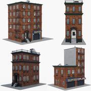 City Apartment Building Collection 3d model
