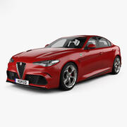 阿尔法·罗密欧(Alfa Romeo)Giulia Quadrifoglio与总部内部2016 3d model