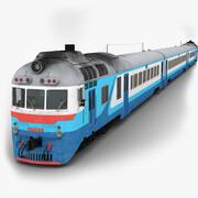 승객과 D1 디젤 열차 3d model