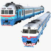 Diesel Trains Collection 3d model