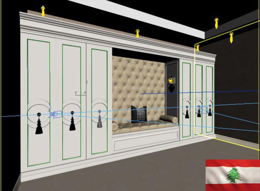 gabinete royalty-free 3d model - Preview no. 3