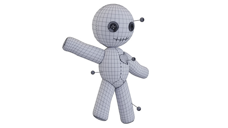 Voodoo Doll royalty-free 3d model - Preview no. 7