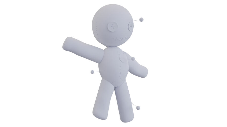 Voodoo Doll royalty-free 3d model - Preview no. 6