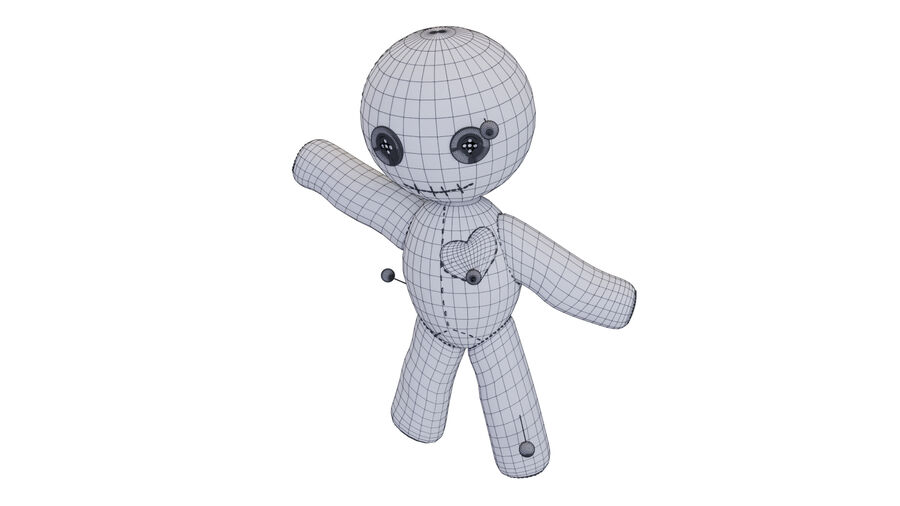 Voodoo Doll royalty-free 3d model - Preview no. 8