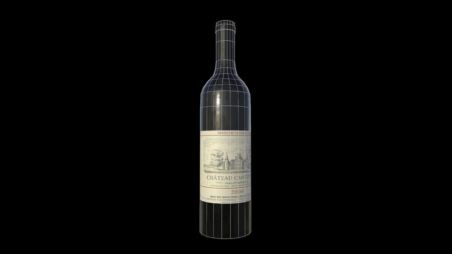 botella de vino royalty-free modelo 3d - Preview no. 5