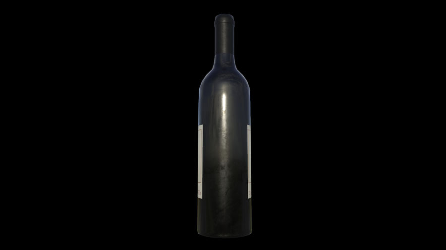 botella de vino royalty-free modelo 3d - Preview no. 4