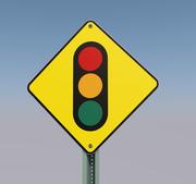 skylt trafikljus 3d model
