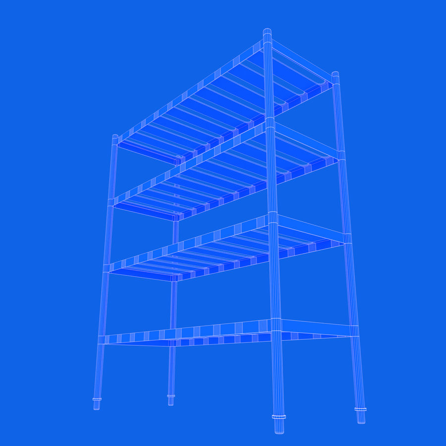 Kitchen Rack royalty-free 3d model - Preview no. 16