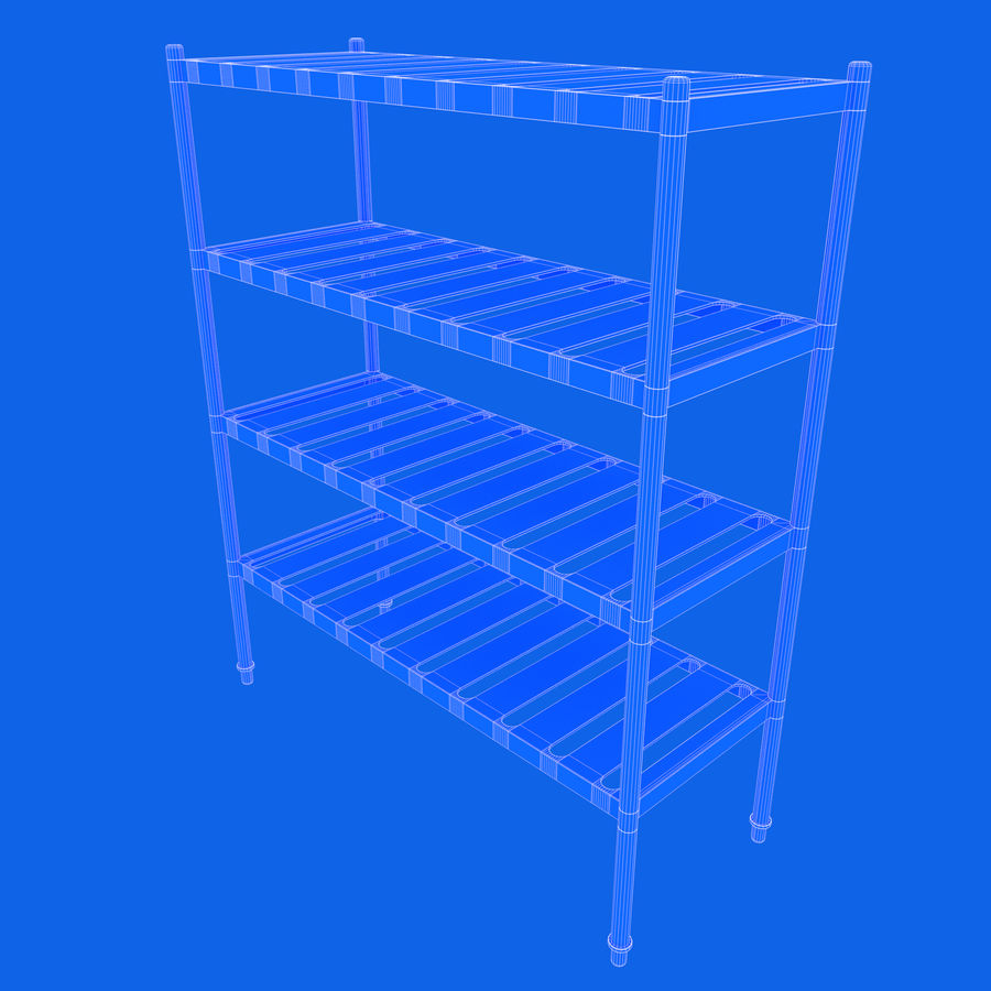 Kitchen Rack royalty-free 3d model - Preview no. 11