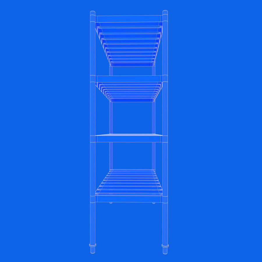 Kitchen Rack royalty-free 3d model - Preview no. 15