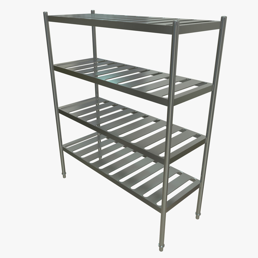 Kitchen Rack royalty-free 3d model - Preview no. 1