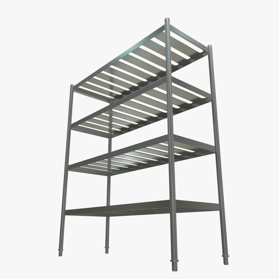 Kitchen Rack royalty-free 3d model - Preview no. 6