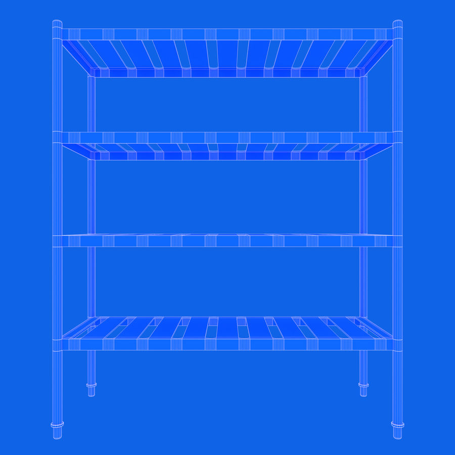 Kitchen Rack royalty-free 3d model - Preview no. 12