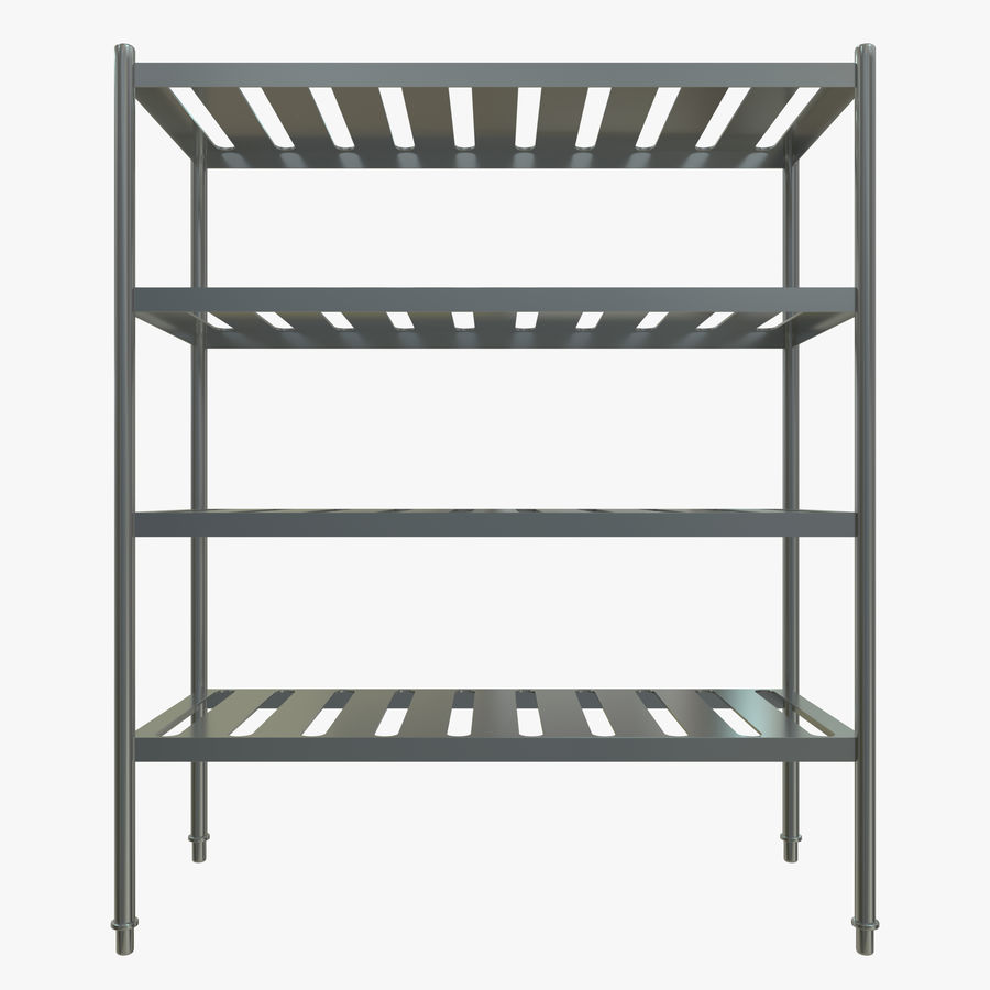 Kitchen Rack royalty-free 3d model - Preview no. 2