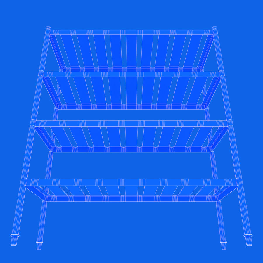 Kitchen Rack royalty-free 3d model - Preview no. 13