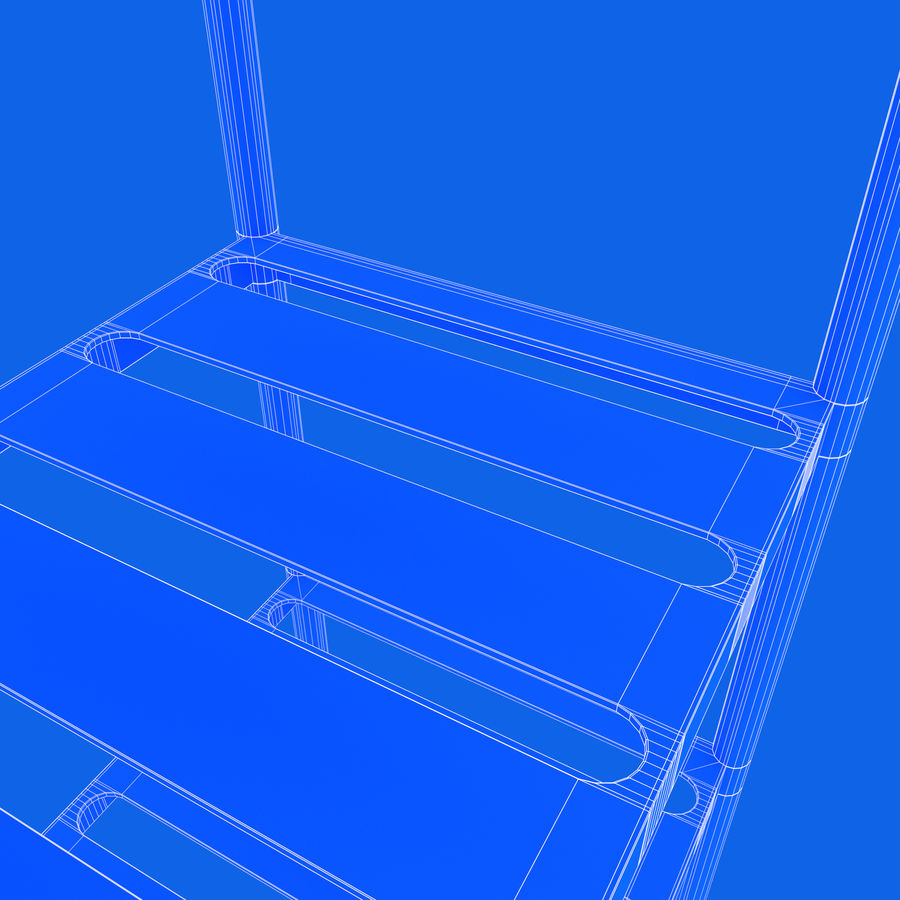 Kitchen Rack royalty-free 3d model - Preview no. 21