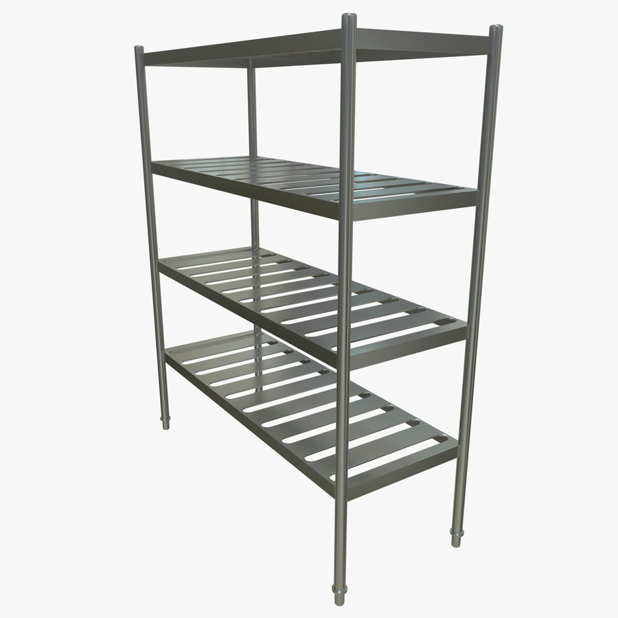 Kitchen Rack royalty-free 3d model - Preview no. 7